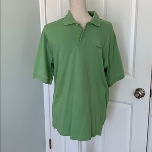 Men's Green short sleeve collard shirt